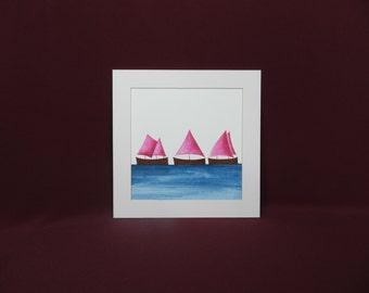 I Saw Three Ships - Fuchsia Pink (R9)