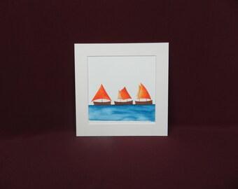 I Saw Three Ships - Orange (R8)