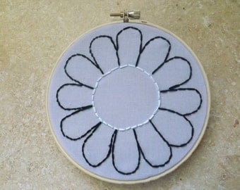 Simple Flower Embroidery Art