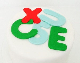 Edible chocolate Letter toppers-chocolate letters for cake-alphabet cake decoration
