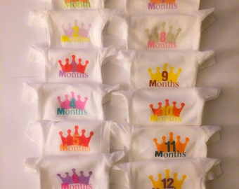 Little Princess 12 Month Onesie Set