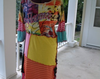 Upcycled Cotton Patchwork Maxi