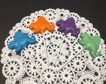 DINOSAUR CHOCOLATE Lollipop(12 qty) DIMETRODON/Reptile Party/Dimetrodon/Boy Birthday/Dinosaur Party Favor/Paleontologist/Prehistoric Times