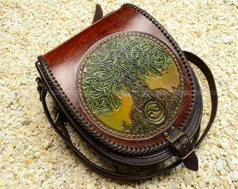 leather bag Yggdrasil