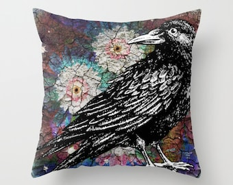 Raven Decorative Pillow Case