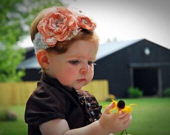 Cuteness- shabby chic toddler headband