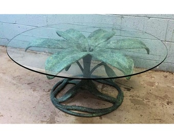 Hollywood Regency Arthur Court style Flower Coffee Table
