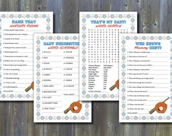 Baseball-Themed Baby Shower Games - Printable Instant Download