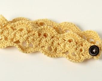 Vintage Lace Headband, Crochet, Toddler, 2T-4T, Child