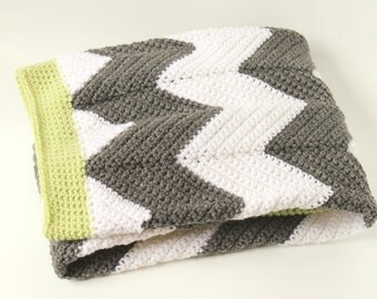 Chevron Baby Blanket, Crochet, Infant, Newborn, Toddler