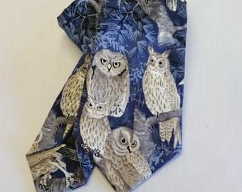 Twit twoo owl Tie.