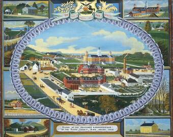 Old Masters - Charles C. Hofmann, Berks County Almshouse, 1878, American, office decor, home decor, wall art, vintage painting, vintage art
