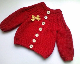Coarse Hand Knit Wool Sweater