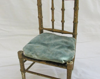 Vintage French doll chair