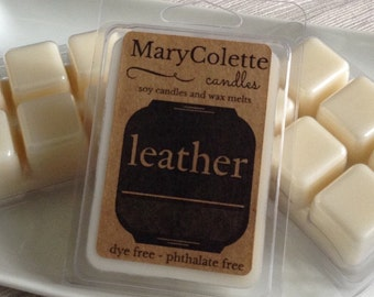 Leather Scented Soy Wax Melt | Leather Wax Melt | Leather Candle | Eco Friendly Soy Wax Melt | Leather Scent | Masculine Scent