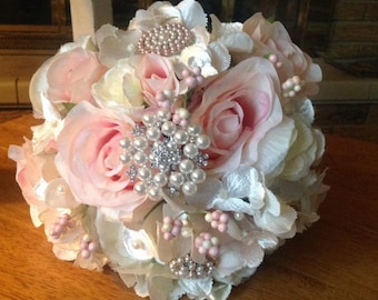 Bride's Shabby Chic Bouquet