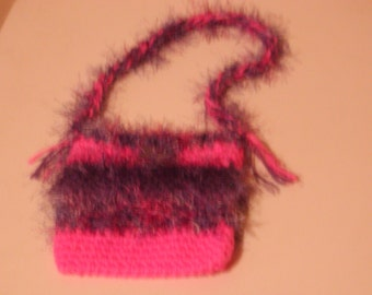 Pink shoulder purse