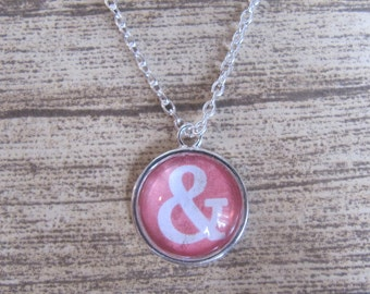 Silver Ampersand Pendant Necklace - Reader - Writer Gift - Bookish Jewellery