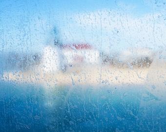 Brant Point, Nantucket MA, Lighthouse, Ferry, Beach, Cloud, Sky, Abstract, Grain, Wall Art, Fine Art Print, Photo