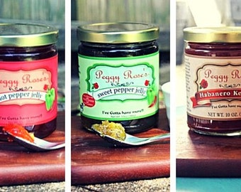 5-Pack of Peggy Rose's Award Winning Jellies & Condiments