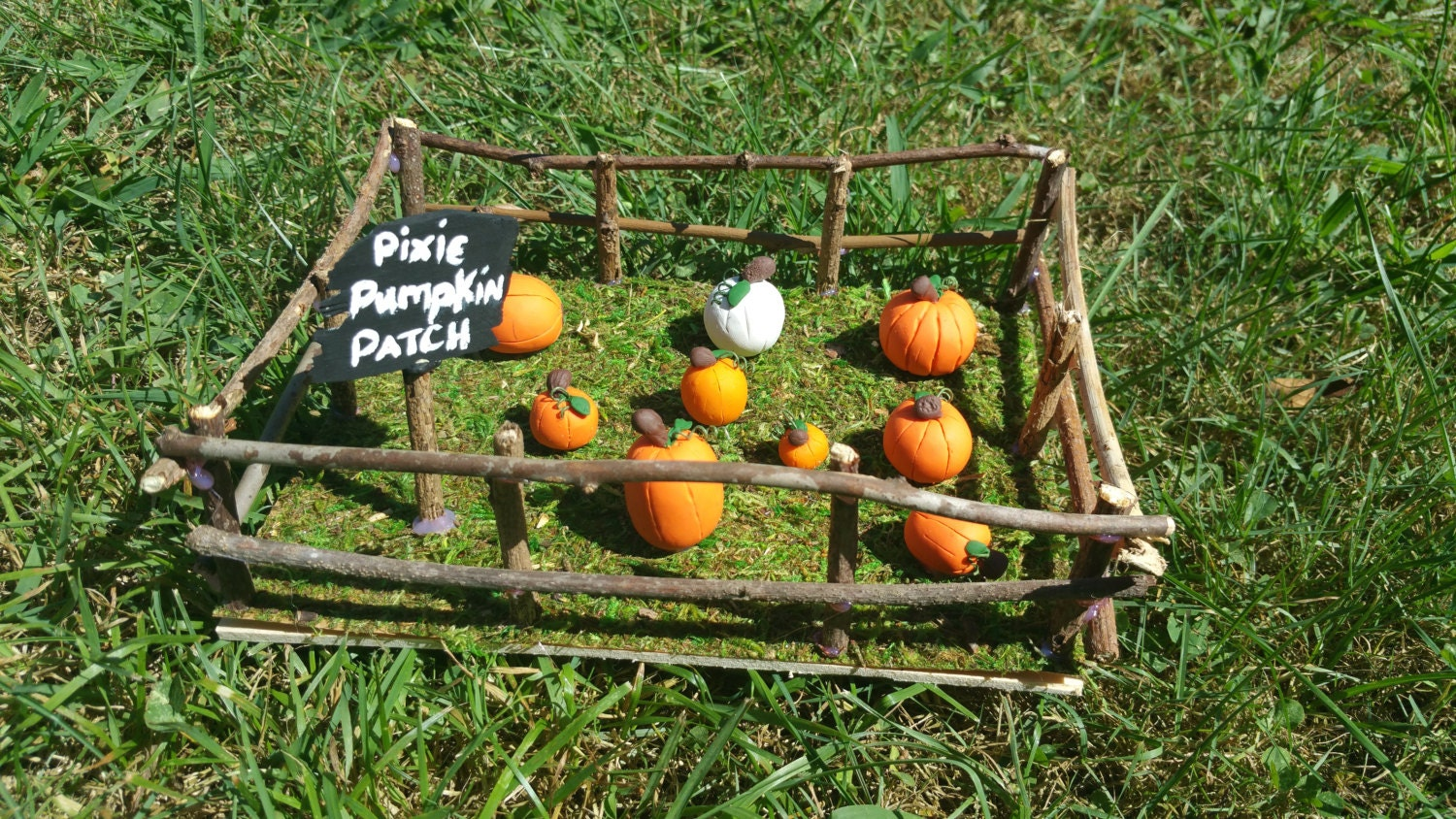 Backyard Pumpkin Patch Party : Fairy garden pumpkin patch by TheRoyalTackBox on Etsy