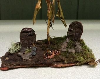 Fairy Graveyard Miniature Cemetery Headstones Graves  Deco