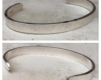 Wide Sterling Silver Bracelet