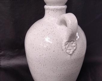 White Stoneware Jug with Stopper