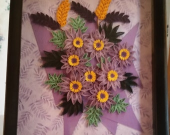 Quilled Bouquet of Purple !!!