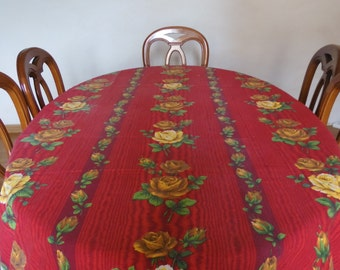 Rectangular table cloth french vintage 50's
