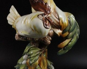 Rare Guido Cacciapuoti Figurine Rooster and Hen