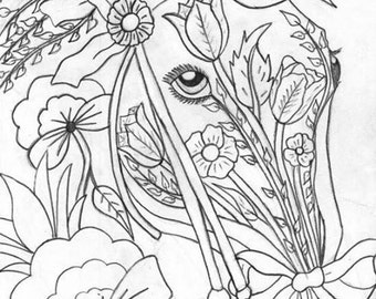 Flower horse  ( handmade paintings )