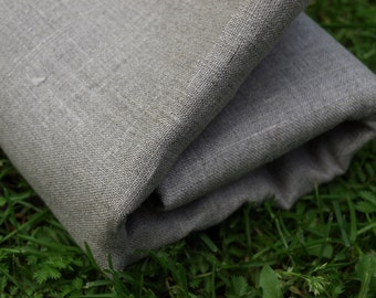 100% Natural Grey Linen Fabric
