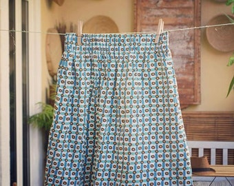 Original vintage fabric skirt 60 years