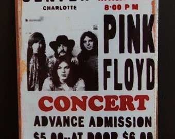 PINK FLOYD CONCERT_REPRODUCTION_VINTAGE-STYLE_METAL SIGN (30X20cm)