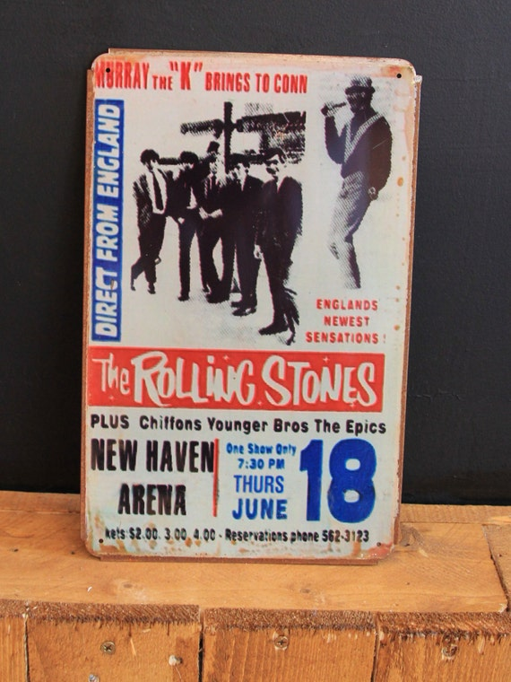Rolling Stones New Haven Arena Vintage Style Metal sign ( 20x30cm )