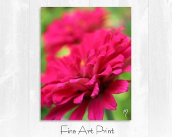 Red Wall Art   Tutu for Two! Red Fine Art Print and Flower Wall Art.