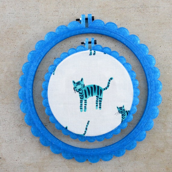 3D Printed Aqua Scalloped Embroidery Hoop