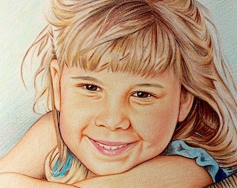 Colored Pencil Portrait from Your Favorite Photo