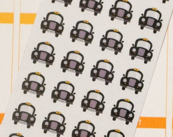 Taxi Cab Planner Stickers