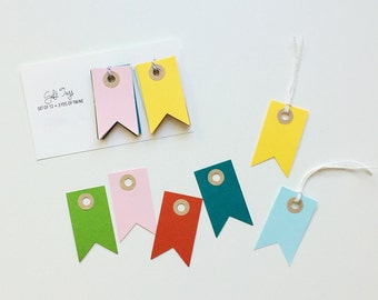 Colorful Pennant Tags