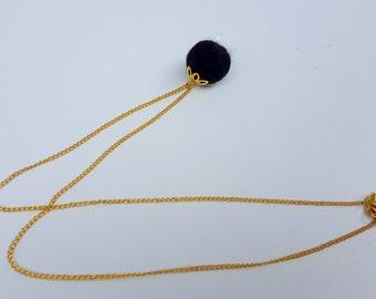 Black&Gold Felted Necklace