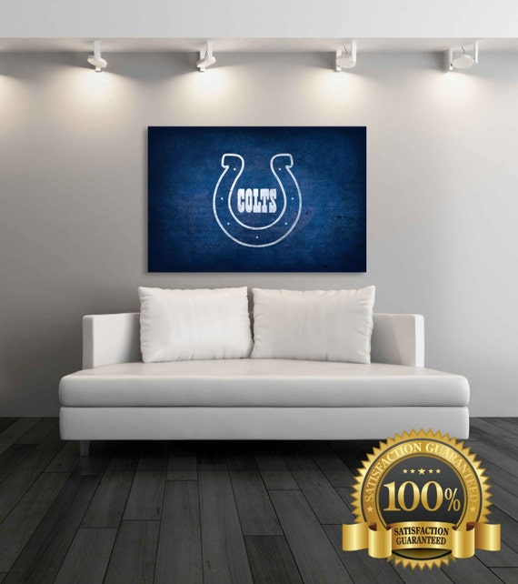 Indianapolis colts canvas indianapolis colts by for Colts bedroom ideas