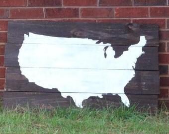 USA Wood Map