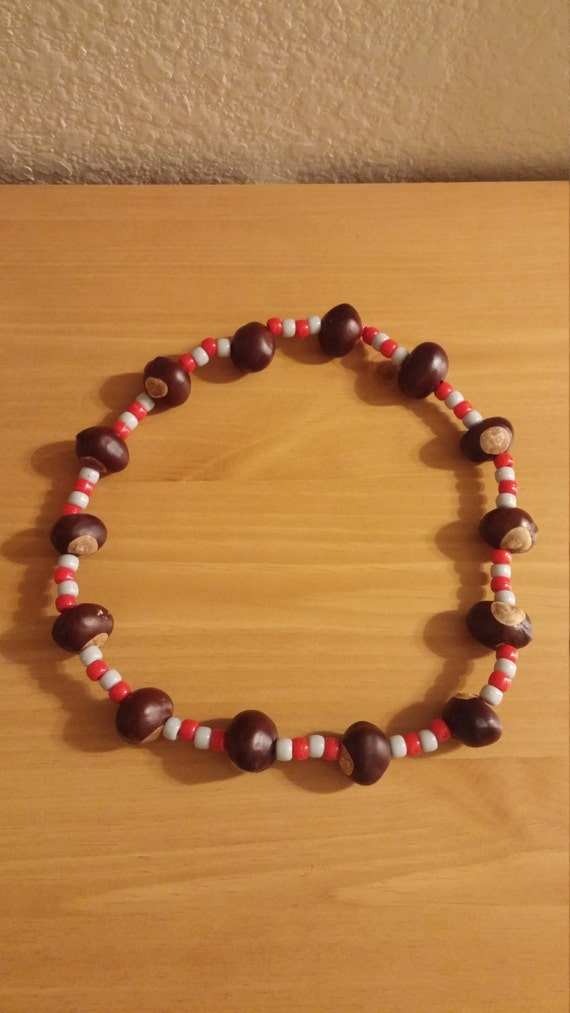 ohio state buckeye necklace osu football by fiveyoungins