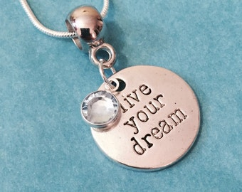 Stamped Word Necklace, Silver Word Necklace, Inspiration Charm Necklace, Mother Gift, Friends Gift, Mom Gift, Gift for Her, Birthday Gift