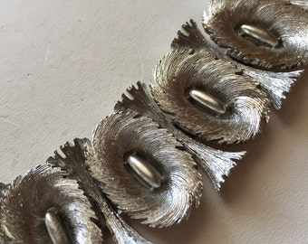 Chunky Silver Tone Vintage Retro Bracelet