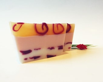 Black Cherry Merlot Soap Funky Layered Vegan Cold Process Soap By kikibloo