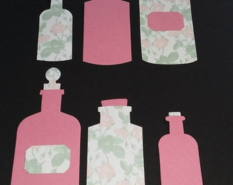 Pre-made Die cut set 5 : Apothecary Bottles