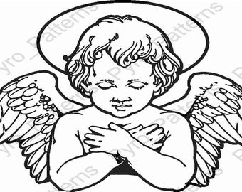 Angel stencils etsy for Wood burning templates free download